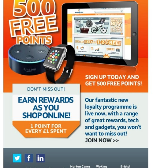 Get 500 Free Jointing Tech Loyalty Points
