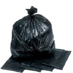 Black Bin Bags (Rolls of 10) - 100% Recycled LDPE