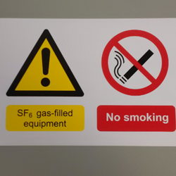 SF6 Warning Label - Self Adhesive