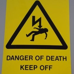 Danger of Death Label (KEEP OFF)