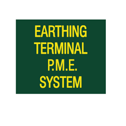 Earthing Terminal PME Label