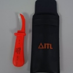 ITL 1000v Insulated Coring Knife with Curved Blade