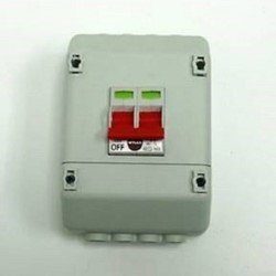 WYLEX 100A 2 POLE SWITCH WITH ENCLOSURE TO SUIT METER TAILS