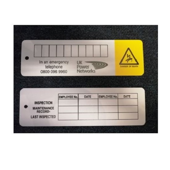 Link Box Inspection Label (UKPN)